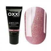 Акригель Oxxi 16 розовый с золотым микроблеском 30 мл