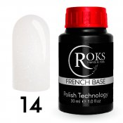 Камуфлирующая база Roks (Opium) French Rubber Base 14 30 мл