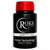 Матовый топ для гель лака Roks (Opium) 30 мл без липкого слоя