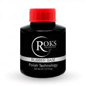 Каучуковая база для гель лака Roks(Opium) Rubber base 50 мл