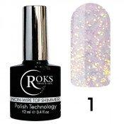 Топ Roks(Opium) c микроблеском Shimmer top Opal 1 12 мл без липкого слоя