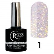 Топ Roks c микроблеском Shimmer top 1 Opal 8 мл без липкого слоя