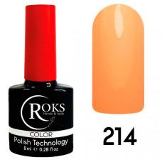 Гель-лак Roks 214 серии Color 8 мл