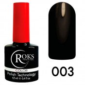 Гель-лак Roks Color 003 Чёрный - 12ml