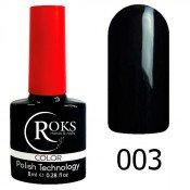 Гель-лак Roks Color 003 Чёрный