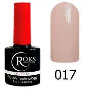 Гель-лак Roks Color 017 Пастельный розово-бежевый