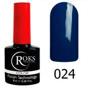 Гель-лак Roks Color 024 Тёмно-синий пепел