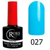 Гель-лак Roks Color 027 Небесно-голубой
