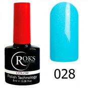 Гель-лак Roks Color 028 Светло-голубой