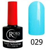 Гель-лак Roks Color 029 Голубой-белёс