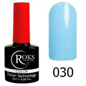 Гель-лак Roks Color 030 Серо-голубой