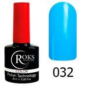 Гель-лак Roks Color 032 Ярко-голубой