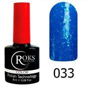 Гель-лак Roks Color 033 Ярко-голубой