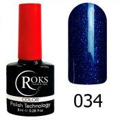 Гель-лак Roks Color 034 Ярко-голубой