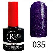 Гель-лак Roks Color 035 Фиолетовый с блёстками
