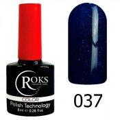 Гель-лак Roks Color 037 Синий с шиммером