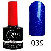 Гель-лак Roks Color 039 Сине-фиолетовый с шиммером