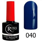 Гель-лак Roks Color 040 Приглушённый тёмно-синий