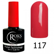 Гель-лак Roks 117 Алый серии Color 8 мл