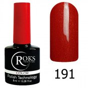 Гель-лак Roks Color 191 Красный огонь