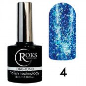Гель-лак Roks (Opium) Diamond №4 Синий