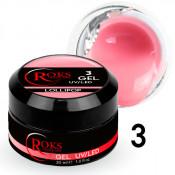 Камуфлирующий гель Roks (Opium) 003 розовый нюд 30 грамм
