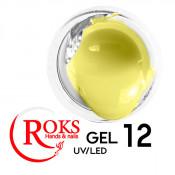 Камуфлирующий гель Roks (Opium) 012 лимонный 15 грамм