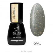 Гель-лак Siller Opal прозрачный с блестками 8 мл