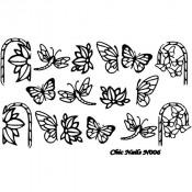 Слайдер-трафарет для ногтей CN006