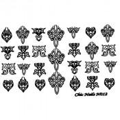Слайдер-трафарет для ногтей CN012