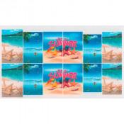 Слайдер для ногтей летний океан, пляж, морские звёзды