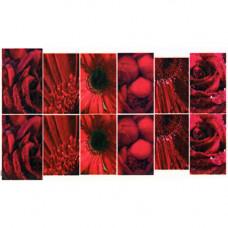 Слайдер для ногтей Red flowers