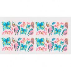 Слайдер для ногтей Розовые и голубые бабочки