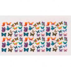 Слайдер для ногтей цветные бабочки