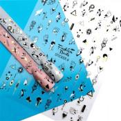 Наклейки для ногтей на клеевой основе ST4