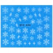 Слайдер для ногтей снежинки stz434