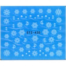Слайдер для ногтей снежинки stz435