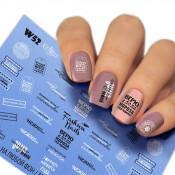 Слайдер для ногтей W052