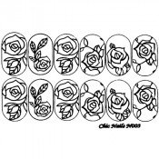 Слайдер-трафарет для ногтей CN003