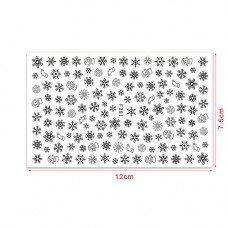 Слайдер для ногтей черные снежинки F281 на клеевой основе