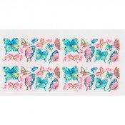 Слайдер для ногтей Розовые и голубые бабочки С0719