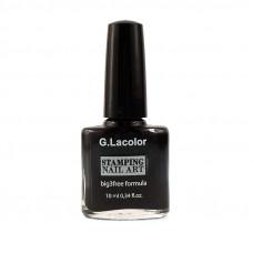 Черный специальный лак для стемпинга G. Lacolor 001