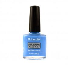Небесно-голубой специальный лак для стемпинга G. Lacolor 006