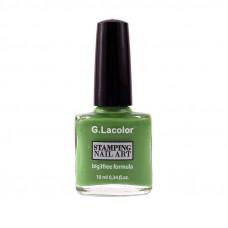 Зеленый специальный лак для стемпинга G. Lacolor 008