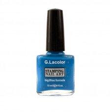 Синий специальный лак для стемпинга G. Lacolor 007
