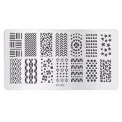 Плитка для стемпинга XY-J02 геометрия