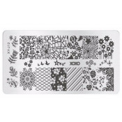 Плитка для стемпинга XY-J12 ажурные цветы