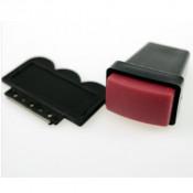 Скрапер и силиконовый штамп для стемпинга