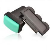 Скрапер и силиконовый штамп для стемпинга зеленый
