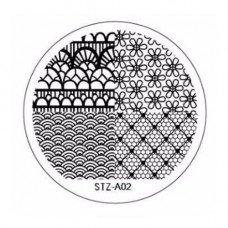 Диск для стемпинга узоры кружево STZ-A-02